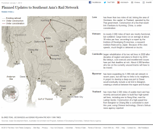 Planned Updates to Southeast Asia's Rail Network