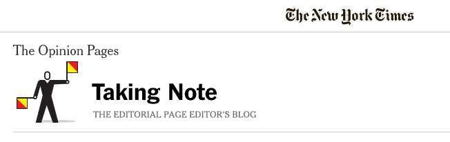 Taking Note - The New York Times