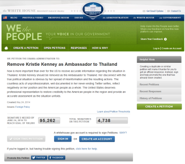 Thai petitions - White house